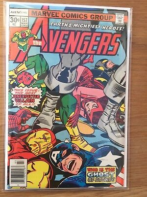 The Avengers  #157  -  Marvel Comic -  Volume 1  -  1977  -  Us Original