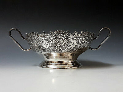 Lovely Antique Middle Eastern Persian Islamic Solid Silver Signed Sugar Bowl