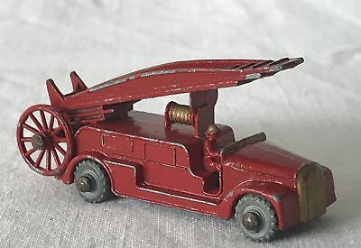 Vintage Matchbox Lesney Moko 1-75 Diecast Toy Car Fire Engine With Driver