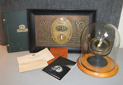 Vintage 1941 Sperry Gyroscope, Bronze Award Plaque And Company Letter