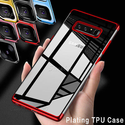 Shockproof 360 Silicone Protective Clear Case Cove for Samsung Galaxy S7 S8 Plus
