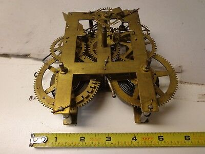 Unknown American 8 Day Clock Movement For Parts or Restore