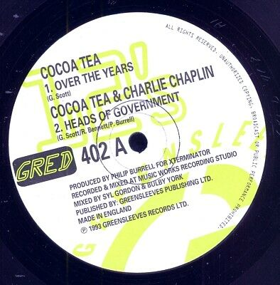 """COCOA TEA-Over The Years / ADMIRAL TIBET-The Love Of Jah - Greensleeves 12""""-1993"""