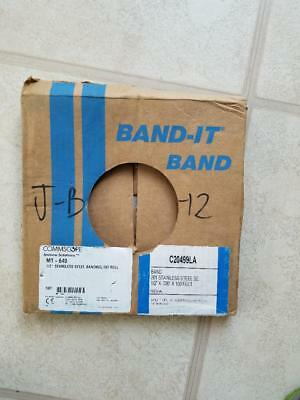 """Band-it Band 201 Stainless Steel Band Strap  1/2"""" x .030"""" x 100 feet Coil"""