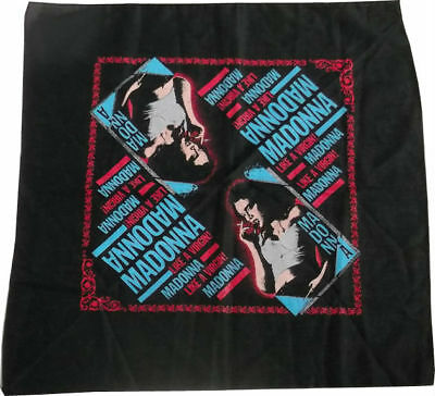 Madonna - Virgin Tour Usa 1985 Bandana - Like A Virgin Black Smoking