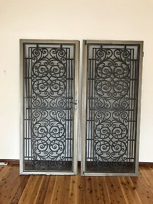 Double Aluminum Security Screen Doors With Insect Screen Mesh