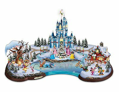 Disney Christmas Cove Illuminated Village Sculpture by Bradford Exchange