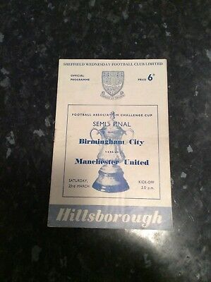 Fa Cup Semi Final 1957 Manchester United V Birmingham Played At Sheffield Wed