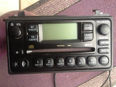 Toyota Mr2 Land Cruiser Rav4 Previa Celica Hilux Cd Radio Player Stereo Decoded