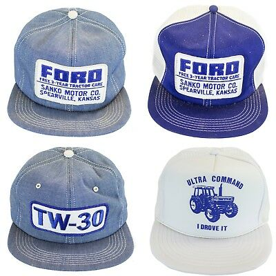 4 ViNtAgE FORD TRACTOR PATCH TRUCKER HAT SNAP BACK cap