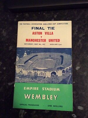 Fa Cup Final 1957 Manchester United V Aston Villa Played At Wembley