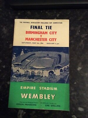 Fa Cup Final 1956 Manchester City V Birmingham City Played At Wembley