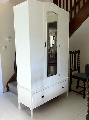 Shabby Chic French Style Oak Double Wardrobe, Dove Tail Joints To  Base  F&b