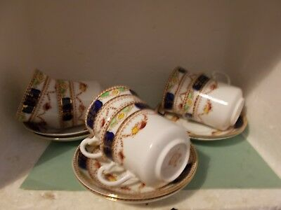 Royal Vale China Part Tea Set 6 cups & saucers Mona Pattern No. 3379