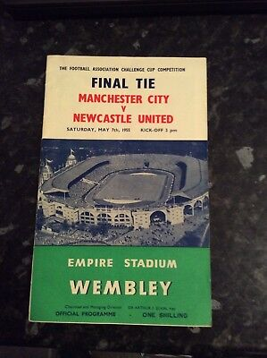 Fa Cup Final 1955 Manchester City V Newcastle United Played At Wembley