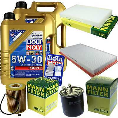 Packet Inspection 10 L Liqui Moly Longlife III 5W-30+ Man Filter Package 9827664