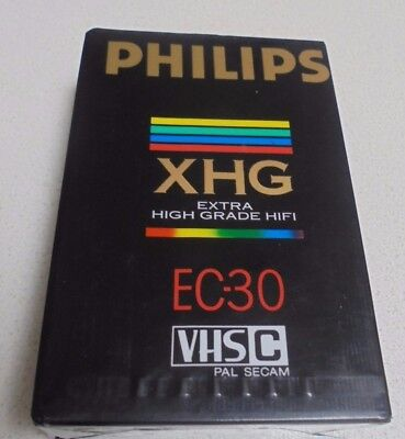 Phillips XHG EC 30 VHS Video Camera Cassette Tape 30 min High Grade Never Used