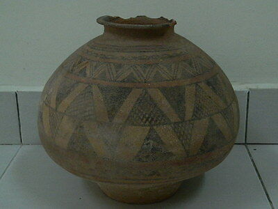 Ancient Huge Size Teracotta Painted Pot Indus Valley 2500 BC NO RESERV  #PT15675