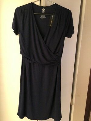 Kindred Bravely Angelina Soft Nursing Maternity Nightgown Dress Navy XL New