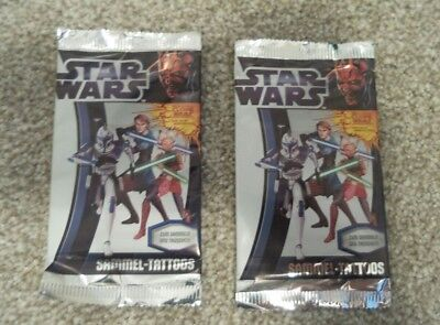 Star Wars Temporary Tattoos x 2 packets, Panini, Clone Wars, sticking fillers