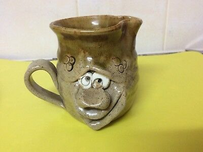Pretty Ugly Pottery:Ugly Face Jug,Handmade In Wales