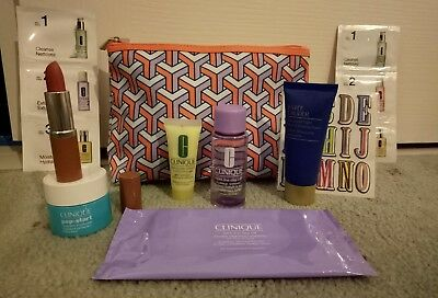Clinique Travel Size Skincare and Makeup 9 pieces + cosmetic bag