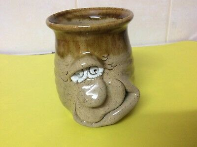 Pretty Ugly Pottery:Ugly Face Plant Pot/Odds & Ends Pot/Vase/,Made In Wales,Boxd