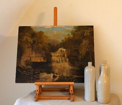 Antique Original 19th Century Landscape Oil Painting Signed H. Thurnall