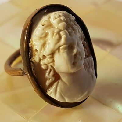BEAUTIFUL antique genuine Cameo ring. Lovely detail! Metal detecting beach find