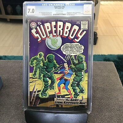 Superboy 86 cgc 7.0 4th appearance legion of superheroes 1st Pete Ross