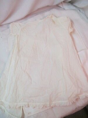 Vintage 1950's Child's Nightgown with pink embroidery