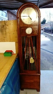Beautiful Antique Art Deco Grandfather/Longcase Clock, Excellent Condition.