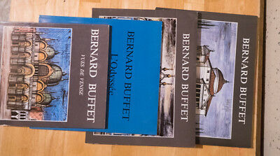 4 Bernard Buffet art books: St. Petersburg,Venice,Odyssey,Italy - taking offers!