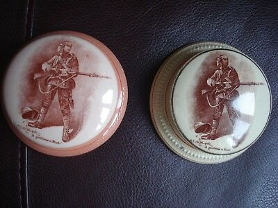 "Macintyre Pottery Paperweight  ""a Gentleman In Kharki"" (Defiant Wounded Soldier"""