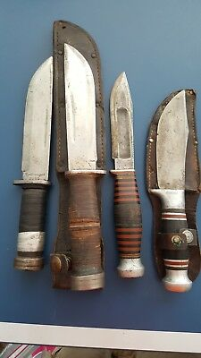 lot of 24 collectable vintage wwII fighting knives and others free shipping