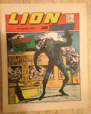 LION AND THUNDER UK COMIC. 10th March 1973. FREE UK POSTAGE.