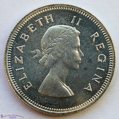 South Africa 1953 Proof Silver 2 Shillings. Km-50.