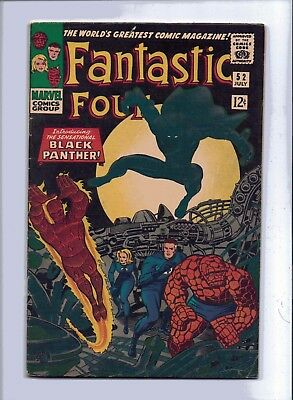 Marvel Fantastic Four 52 (1St Panther) Unrestored Higher Grade