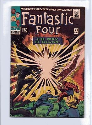 Marvel Fantastic Four 53 (1St Klaw / Origin Panther) Unrestored Higher Grade