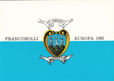 SAN MARINO complete stamp booklet, 1982 Europa issue