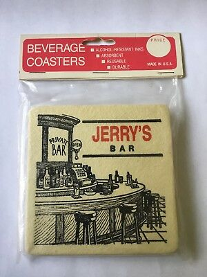 Beverage Coasters - Jerry's Bar ( pack of 6 )