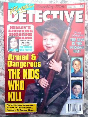 Master Detective Magazine. August 1998. 51 Pages True Stories. Good Condition.