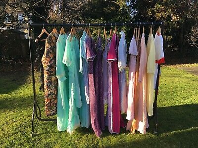 Job Lot Bundle Vintage Retro Nightwear 19 Pieces Night Dresses Robes, Beech Robe