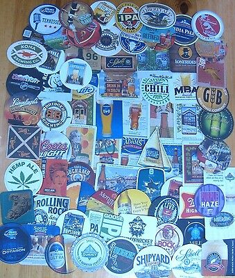 75 Unique US Beer Coasters! No Dupes! Majors & Micros! New Listing! #2 Lot of 4!