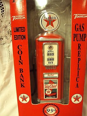1997 FIRE CHIEF 1950 SKY CHIEF Gearbox TEXACO GAS PUMP REPLICA Coin Bank 66017