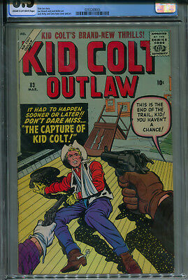 Kid Colt Outlaw #83 CGC 8.5 C/OW Jack Kirby cover & art, HIGHEST GRADED!