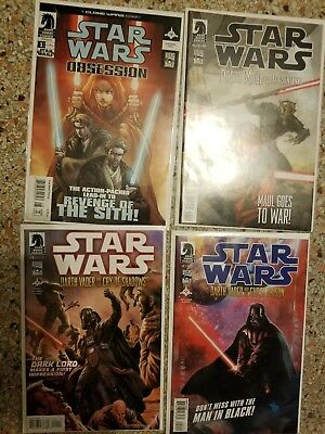 Lot of 4 Dark Horse Star Wars comics Darth Vader Darth Maul