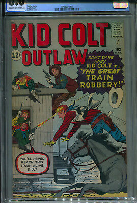 Kid Colt Outlaw #103 CGC 8.0 C/OW Jack Kirby cover & art, 2nd highest graded!