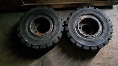 2 Solid Fork Lift Truck Tyres