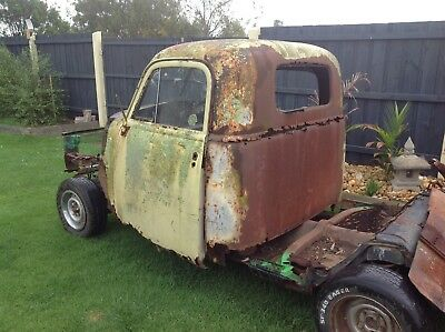 Hotrod Chev Car Dodge Ford Ratrod Chrysler Rusty Truck Cab Only + Glass
